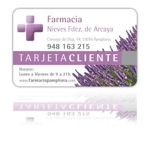 Tarjeta Clientes Farmacia Nieves Fernández de Arcaya